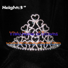 3 inch Shamrock Crystal Pageant Crowns