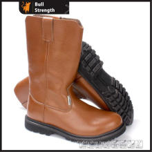 Industrial Geniune Leather Safety Boots with Rubber Sole (SN5394)