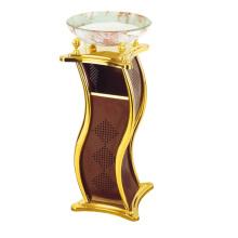 Iron Mülleimer für Lobby mit Glas Aschenbecher (YW0066)