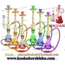 Translucent Glass Large Hookah With Plastic Mouth Tips