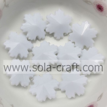 Wholesale Snowflake Shape Opaque Acrylic Beads