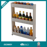3 Tier kitchen plastic gap corner storage rack