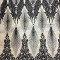 Высококачественные африканские черные блестки вуаль из полиэстера 130 см