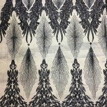 Hochwertige afrikanische schwarze Pailletten Voile Polyester 130CM