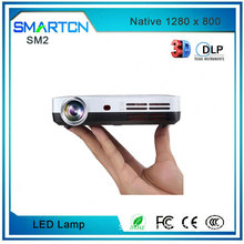 Popular Outdoor 3500 lumens pocket projector Automatic Keystone Correction 3D Mini Projector With glass Touch Panel