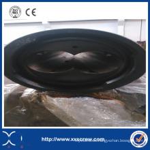 Tubo de plástico de PVC extrusor cónico de doble tornillo