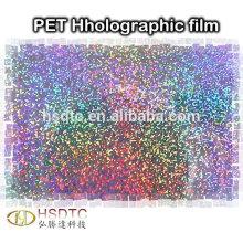 Rouleaux de film holographique PET sans colle