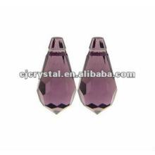 Amethyst Glass Teardrop Beads