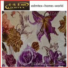 100% Polyester Knitted Fabric Printing Velvet Curtain Fabric (EDM0435)