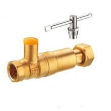 J278 Messing Abschließbares Rückschlagventil im Wasserzähler / Kugelhahn prüfen