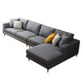 Chaise Lounge 3-piece Fabric Upholstered Sectional Sofas