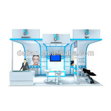 модульный косметический выставочный стенд стенд сделанный в Шанхае и экспорта за рубеж