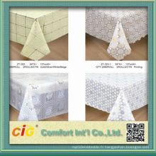 Nappe en PVC à motifs en relief fabriquée en Chine