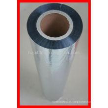Película metalizada BOPP en rollos