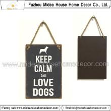 Kleine Größe Metall Zeichen für Hund