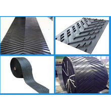 Cleat Hight 15mm Chevron Diamond V Shape Rubber Conveyor Belts