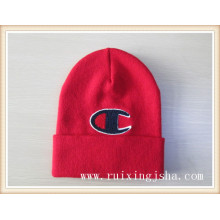 Men pile coating logo knitted hat