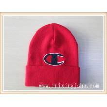 Мужчины ворсовые покрытия логотип вязаная шапка