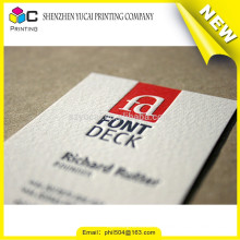 Hot Stamping luxury letterpress paper print on business cards printer