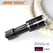 Maxtoch ZO6X-4 Waterproof Light Torch Mount Zoom Lens Flashlight