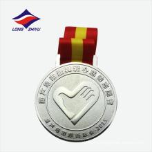 Plata antigua plateada medallas de metal de recuerdo de trabajo de caridad