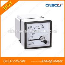 Medidor de painel analógico SCD72-W-var medidores de energia ativos e reativos