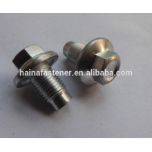 Zinc-Plate Hex Head Flange Bolt With Dog Point