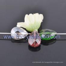 Mode-Teardrop-Form Beschichtung facettierten Kristall Glas Perlen für Schmuck