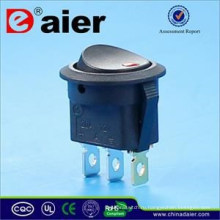 Daier 12В LED светящаяся точка клавишный Выключатель Т85