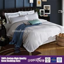Roupa de cama barata de venda quente do hotel da tamanho amigável da rainha do Eco