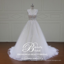 XF16057 high quality A line wedding dress ball gown bridal dress with fancy lace