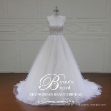 XF16057 de alta qualidade Uma linha de vestido de casamento vestido de noiva vestido de noiva com renda elegante