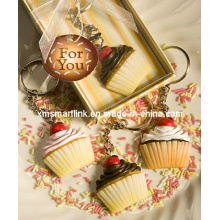 Miniature Cup Cake Key Ring Premium Gifts
