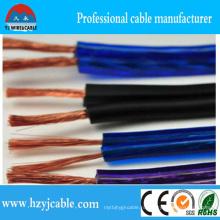 Горячий продавая прозрачный PVC 2 диктора кабеля Cable2 * 3.5mm2 диктора тональнозвуковой акустический
