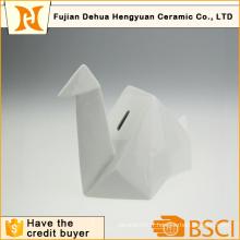 Porte-monnaie en céramique blanche Papercrane Shape à vendre