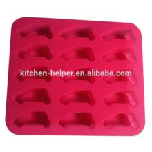Vente en gros Chine Professionnel Fabricant Grade alimentaire Durable Reutilisable antiadhésif en silicone Forme de voiture Moules à glace