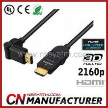 Cabo HDMI rotativo de 360 graus