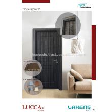 Porta de PVC de toque suave com moldura impermeável WPC