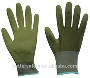 Economy Green Bamboo Latex Foam Coating Hand Gloves China Wholesale