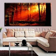 Impressão da lona da floresta para a decoração da parede
