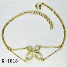 Модные ювелирные изделия 925 серебряных браслетов для юных дам.