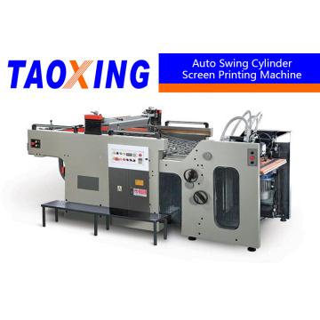 Einzelne Farbe Vollständige automatische Swing Screen Printing Machine für Blatt Papier