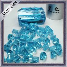 Light Aqua CZ áspera / materia prima, Zirconia cúbica áspera