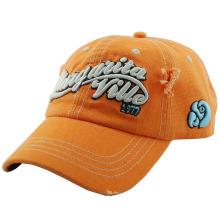 Pesado lavado bordado algodão lona esportiva cap cap (TMB0061)