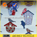 printed cotton fabric birds upholstery