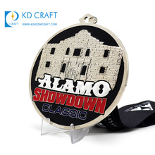 High quality custom metal iron stamping embossed 3d logo commemorative medal for conference