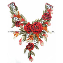100% Polyester Multicolor Lace Flower Collar Sewing on Apparels