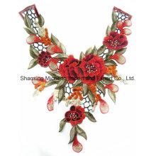 100% полиэстер многоцветный кружевной цветок воротник пошив на одежду