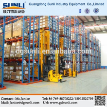 2015 hot selling Q235b steel warehouse factory pallet narrow aisle storage rack