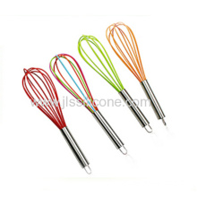 Baking Tools Silicone Egg Whisk With Stainless Steel Handle